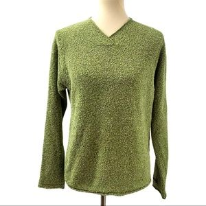 Columbia Green Nubby Knit Long Sleeve Top